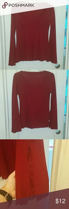 Forever 21 Bell-Sleeved Red Blouse Pretty red bell-sleeved red blouse. A friend gave this to me a long time ago, and apparently she cut the tags out. She was small, and from my expert shopping knowledge, I'd say this is a M/L and needs to be hand-washed in cold water, laid flat to dry (if you hang it, the weight of the water in the fabric would definitely cause it to tear). I love this top, but can no longer fit into it. From my research online, this was probably originally priced at around…