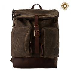 [Builford] Hunter Rucksack Backpack-Dark Oak Grid
