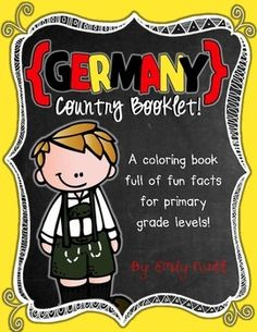 Germany Booklet (a country study!) -- Use during social studies units about countries around the world! Oktoberfest Outfit, Oktoberfest Party, Oktoberfest Hairstyle, Around The World Theme, Around The World In 80 Days, Holidays Around The World, Germany For Kids, World Thinking Day, Learn German