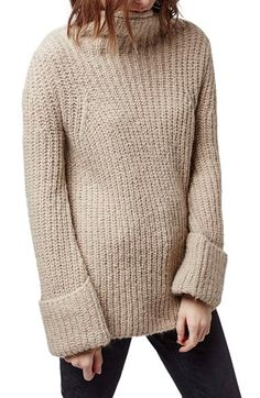 Comfy, warm and oh-so stylish. Adoring this simplistic Topshop funnel neck sweater