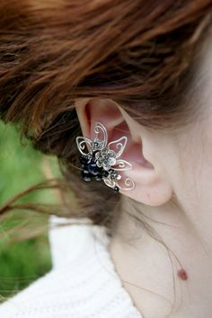 Elven earcuff, fantasy decoration for ear by RomanticElfJewelry on Etsy