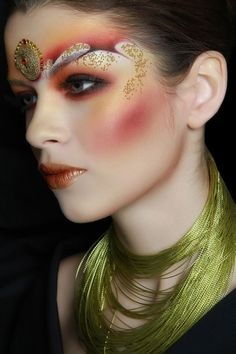 Make-Up Magazine | Fashion Beauty Photo Den Kara | Hair Sergiu Bacioi  MUA Iuliana Sandu | Artistic watercolors technique