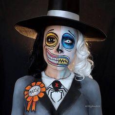 Fete Halloween, Halloween Inspo, Halloween Makeup Looks, Creepy Halloween, Halloween Horror, Halloween Cosplay, Halloween Outfits, Halloween Make Up, Tim Burton Halloween Costumes