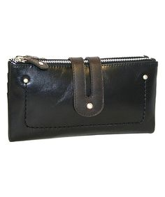 This Black Double Trouble Leather Wallet is perfect! #zulilyfinds