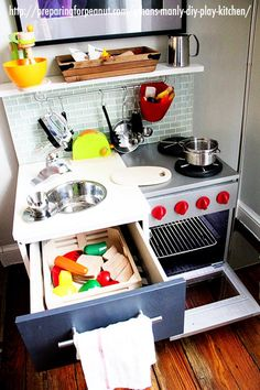 Check out these DIY play kitchens that are so amazing you'll want to cook in them yourself!