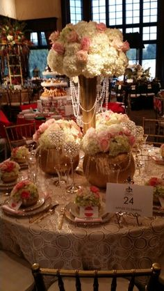 Kappa tablescapes 2014, Glamorous fall table decoration at the Dallas County Club. October 2014