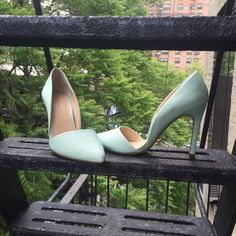 NWOT Adelia D'Orsay Pumps Super comfy, mint green shoe. *Size runs large! (I'm normally a size 10 but even a 10.5 would be comfortable in this) 💰Make an offer!💰 Does NOT come in original box. 🚫 trades Banana Republic Shoes Heels