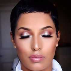 This pixie tho! Pretty Makeup, Love Makeup, Beauty Makeup, Makeup Looks, Hair Makeup, Hair Beauty, Flawless Face, Flawless Makeup, Bridal Makeup