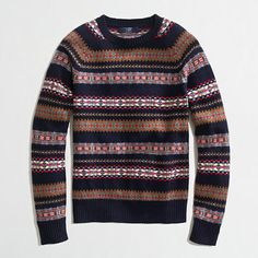 Factory lambswool Fair Isle sweater - Lambswool - FactoryMen's Sweaters - J.Crew Factory