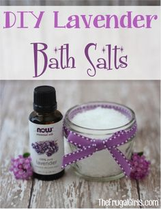 DIY Lavender Bath Salts! ~ from TheFrugalGirls.com ~ say so-long to the stresses of the week, or make up a fun Gift in a Jar to give! #masonjars #bathsalts #thefrugalgirls