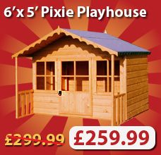 Cheap Playhouses for Sale | Types of Garden Building Buying a Shed Bulk Buy Cheap Sheds, High ...