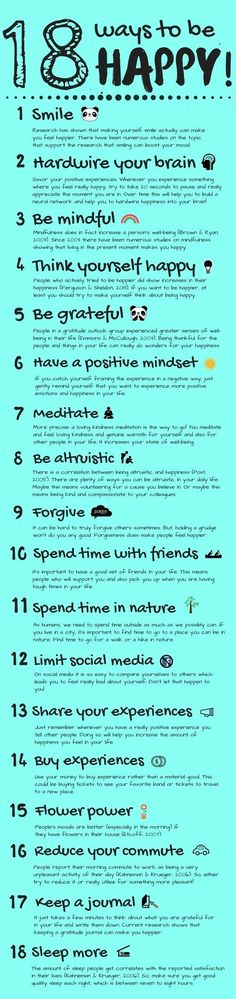 18 simple AND scientifically proven ways to live a little happier! For this post, Id like to give you some tips on how you can experience more happiness in your everyday life. Ive compiled a list of 18 actually proven ways to be happy. These proven ways Happy Thoughts, Positive Thoughts, Positive Mindset, Ways To Be Happier, Self Improvement, Self Help, Self Care, Happy Life, I'm Happy