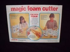 1977 Magic Foam Cutter - MOST DANGEROUS TOY I ever owned. Used a hot wire, powered by a battery, to cut through foam - burnt my fingers every single time I used it - but it was really cool to use to create stuff! Can't believe my parents let me have it.