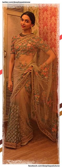 Deepika in a unique yet gorgeous sabyasachi sari!