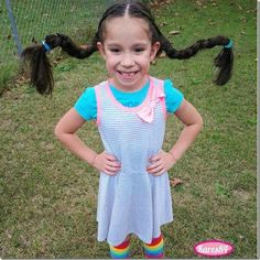 Pippi Longstockins hairstyle for Halloween or crazy hair day. This is too cute! Creative Hairstyles, Cute Hairstyles, Halloween Hairstyles, Crazy Hair Days, Christian Wife, Your Girl, The Incredibles, Summer Dresses, Hair Styles