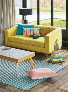 Salon MARIE - Alinéa - Jeu concours Pinterest - A gagner : Un canapé d'une valeur de 499€ ! Jouez sur : https://www.pinterest.com/alinea/les-salons-color%C3%A9s/