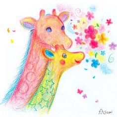 Giraffe in the spring