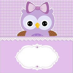 Convite Adesivo Quadrado Adesivo redondo Bala Personalizada Rótulo Bis (Frente) Co. Free Printable Banner, Free Printable Invitations, Free Printables, Owl Labels, Owl Quotes, Owl Birthday Parties, Candy Bar Labels, Quinceanera Themes, Purple Owl