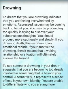 Ohmygod I have a huge fear of drowning.  Almost happened twice in my life.