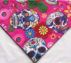 Dead of the dead pink slip on bandana for sale at woofwebshop.co.uk (all sizes) #dogbandana #pinkdogbandana #dogbandanauk