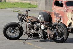Very cool rat bike and rat rod collection