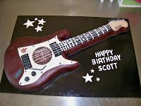 I have made several guitar cakes for clients and have always had a great time making them. They are relatively easy to ma...