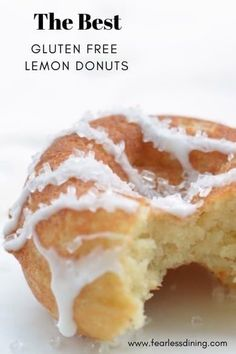 You will love how easy these dairy free and gluten free lemon donuts are to make. Delicious bite-sized donuts that are packed full of fresh lemon flavor. Easy to make in a donut maker or bake in a doughnut pan. Gluten Free Doughnuts, Gluten Free Cupcakes, Gluten Free Bakery, Gluten Free Sweets, Dairy Free Recipes, Donuts Donuts, Gluten Free Baked Doughnut Recipe, Baked Doughnuts, Gf Recipes