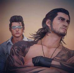 Final Fantasy Xv, Final Fantasy 15 Gladiolus, Spiderman Black Suit, Walking Tall, Art Of Man, Guy Drawing, Anime Eyes, Aliens, Videogames
