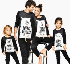 Family Pajamas, Matching Pajamas, Super Family ❥ Feel comfy and look fresh at home with our originally-designed premium quality cotton pajamas! Family Pjs, Family Christmas Pajamas, Matching Family Pajamas, Holiday Pajamas, Matching Family Outfits, Fall Family, Funny Pajamas, Pajamas All Day, Kids Pajamas