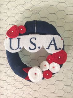 USA 4th of July Wreath by alittlewreath on Etsy