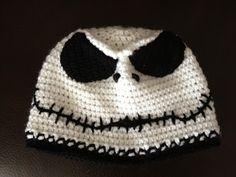 Jack Skellington inspired Crochet Hat in Beanie Style by Dawned On Me Crochet  https://www.facebook.com/DawnedOnMeCrochet