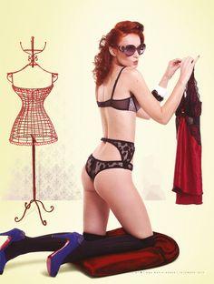 Revista A - Ensaio Pinups by Werner Cunha, via Behance Bikinis, Swimwear, Behance, Illustrations, Fashion, Cunha, Bathing Suits, Moda, Swimsuits