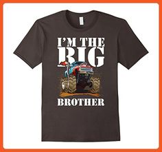 Mens I'm The Big Brother - Funny Older Sibling Truck Car T-Shirt Medium Asphalt - Relatives and family shirts (*Partner-Link)