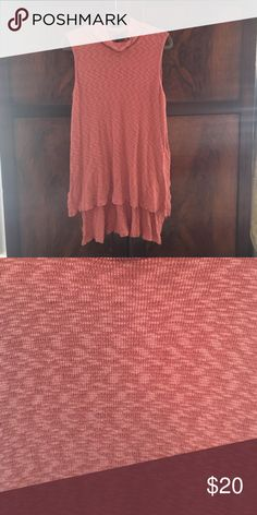 Anthropologie brand Left of Center high low top Orange high low sleeveless top Anthropologie Tops Tank Tops
