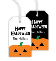 Halloween Pumpkin Hanging Gift Tags