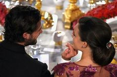 10 December 2014 - Carl Philip and Sofia at the Nobel Prize banquet in Stockholm
