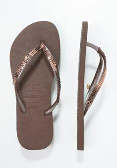 Havaianas SLIM - Flip-flops - copper - Zalando.se