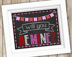 Be Mine Valentines Day Sign Instant Download ~ Printable Valentines Day Photo Prop ~ Valentine's Day Chalkboard Be Mine Sign Print Decor by SubwayStyle on Etsy