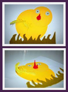 Kartka – Wielkanocny kurczak 3D | Ocalić od zapomnienia nasze cudowne lata...