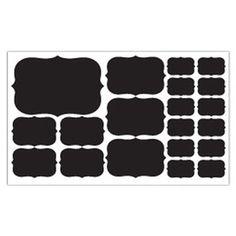 20-Piece Chalkboard Label Decal Set