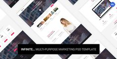 Infinite - Marketing PSD Template . Infinite has features such as High Resolution: Yes, Layered: Yes, Minimum Adobe CS Version: CC 2015