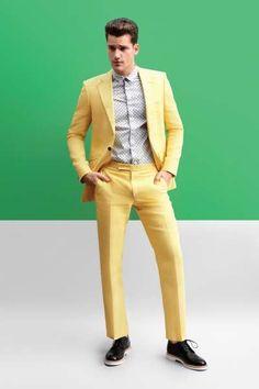 Arthur Sales Models Bright Menswear Pieces for Design Scene Exclusive #suits #mensfashion trendhunter.com