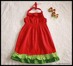 jazz up simple dress with ruffles.  good project for grandma!