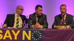 UKIP  Nigel Farage MEP   Q&A At 'SAY NO' Conference In Bolton