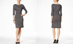 Style & Co. Printed Ruched Sheath Dress, Only at Macy's