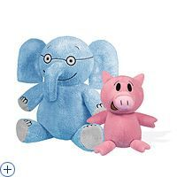 Elephant and Piggie plush toys are available at www.yottoy.com. Children love these huggable book characters!