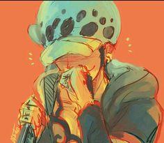 Blushing Trafalgar Law One Piece art orange One Piece Anime, One Piece Fanart, One Piece Images, One Piece Pictures, Trafalgar Law, Manga Anime, Anime Art, Girls Anime, Anime Guys