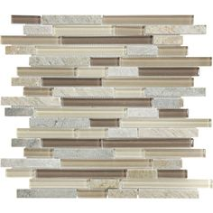 Dune Mixed Material Mosaic Wall Tile (Common: 12-in x 14-in; Actual: 11.87-in x 11.93-in)