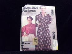 """Misses' Blouse or Dress """"Show-Me"""" Pattern McCall's 6318 1970s patterns retro clothing vintage clothing sewing Women's size 8-10-12"""