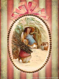 Vintage Labels, Vintage Ephemera, Vintage Cards, Easter Bunny Images, Easter Pictures, Beatrix Potter Illustrations, Beatrice Potter, Rabbit Art, Bunny Art